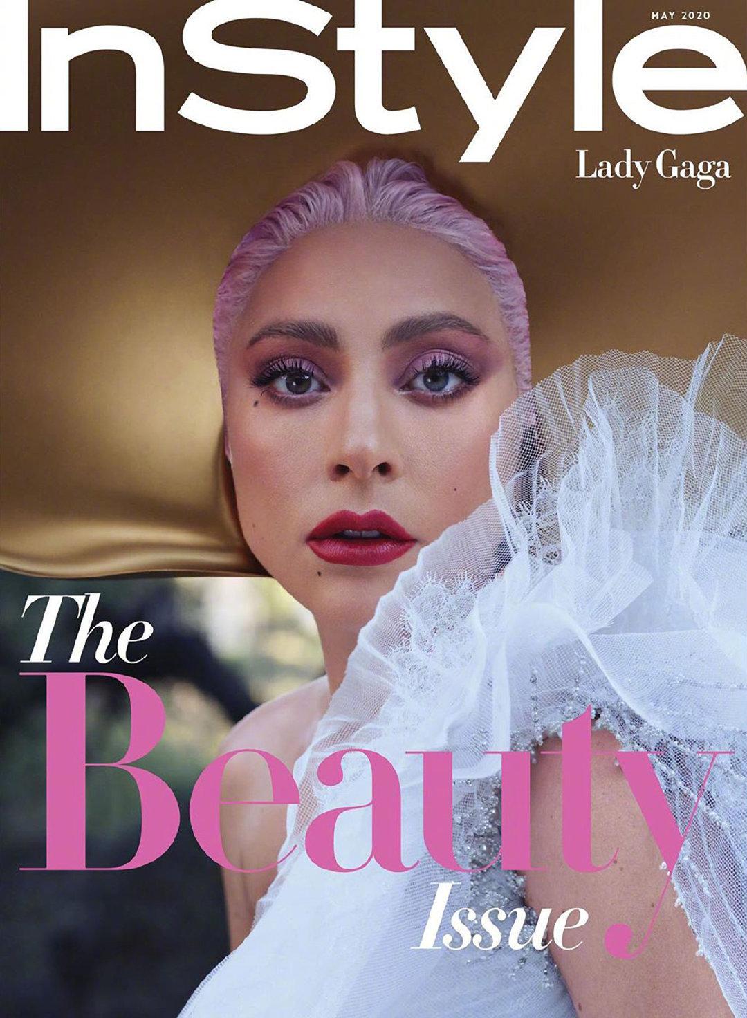 Lady Gaga为InStyle杂志美国版5月刊拍摄的新写真,充满春天的气息