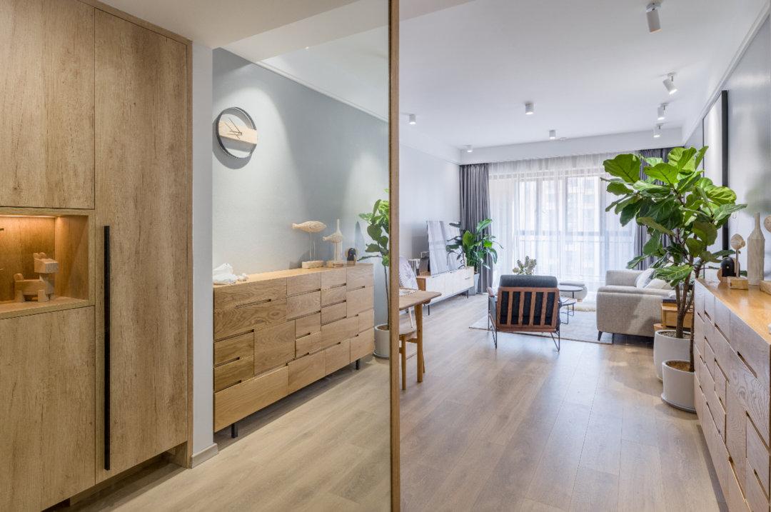 90㎡的北欧Muji风住宅丨深蓝设计一个放松舒适的家便是灵魂安放的地