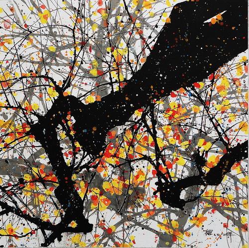 三月,醉一场青春的流年,画家汪钰元 水彩和彩墨作品