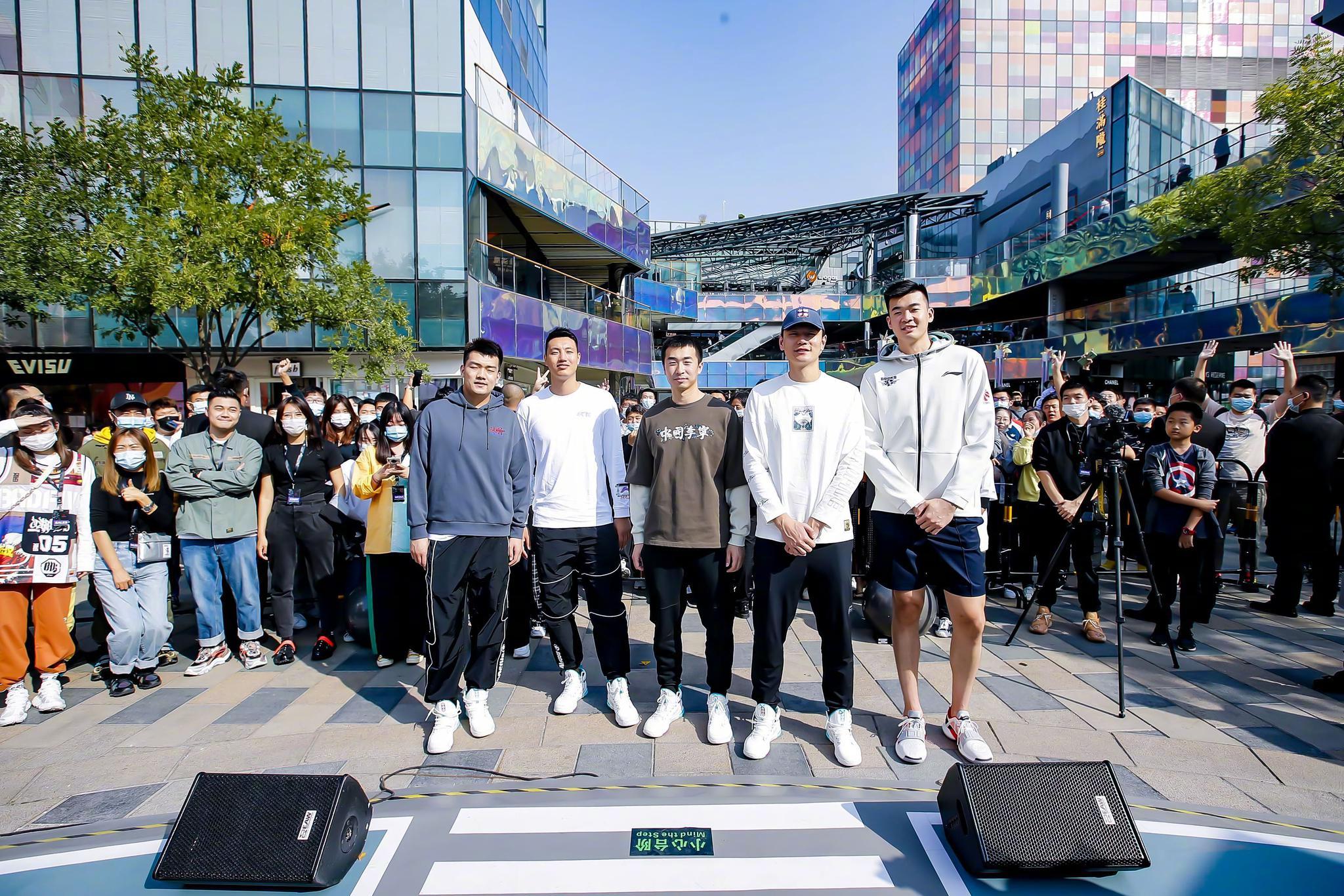 北京首钢球员翟晓川、朱彦西、李慕豪、张才仁、王骁辉