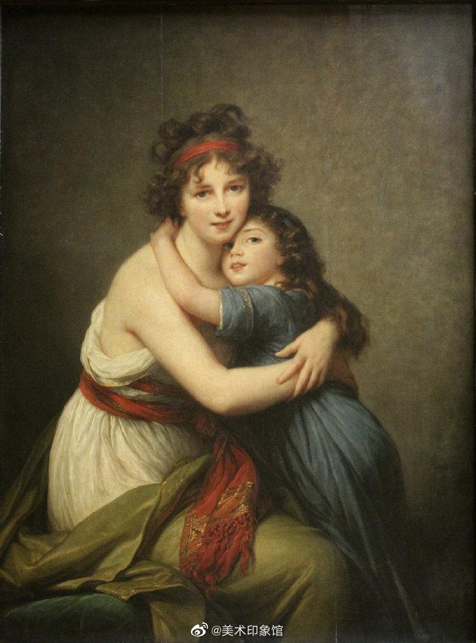 "Vigée-Le Brun笔下,各种""亲子""油画像"