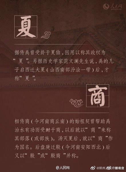 中国18个朝代名称的来历,你能说全吗