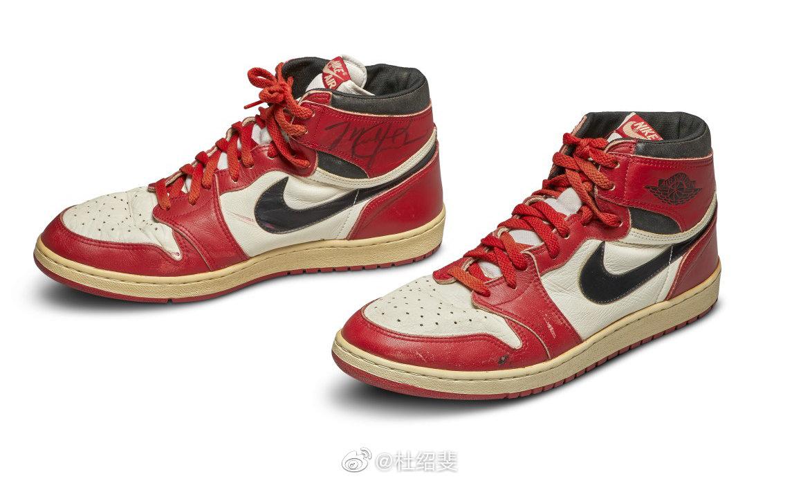 苏富比拍卖行即将拍卖MJ在1985年穿过的原版Air Jordan 1
