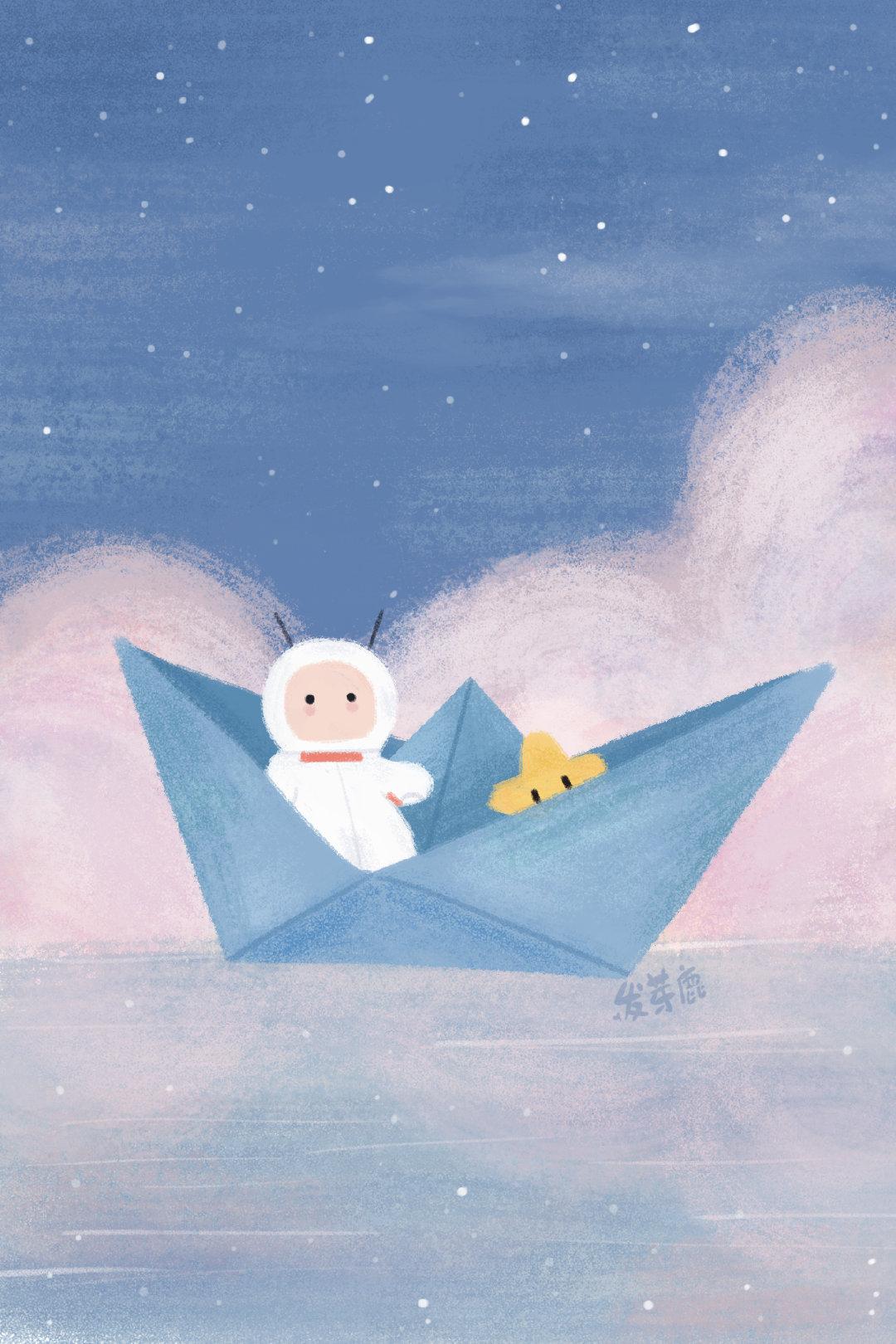 小小宇航员的太空之旅,有小星星的陪伴,让一切都很温暖