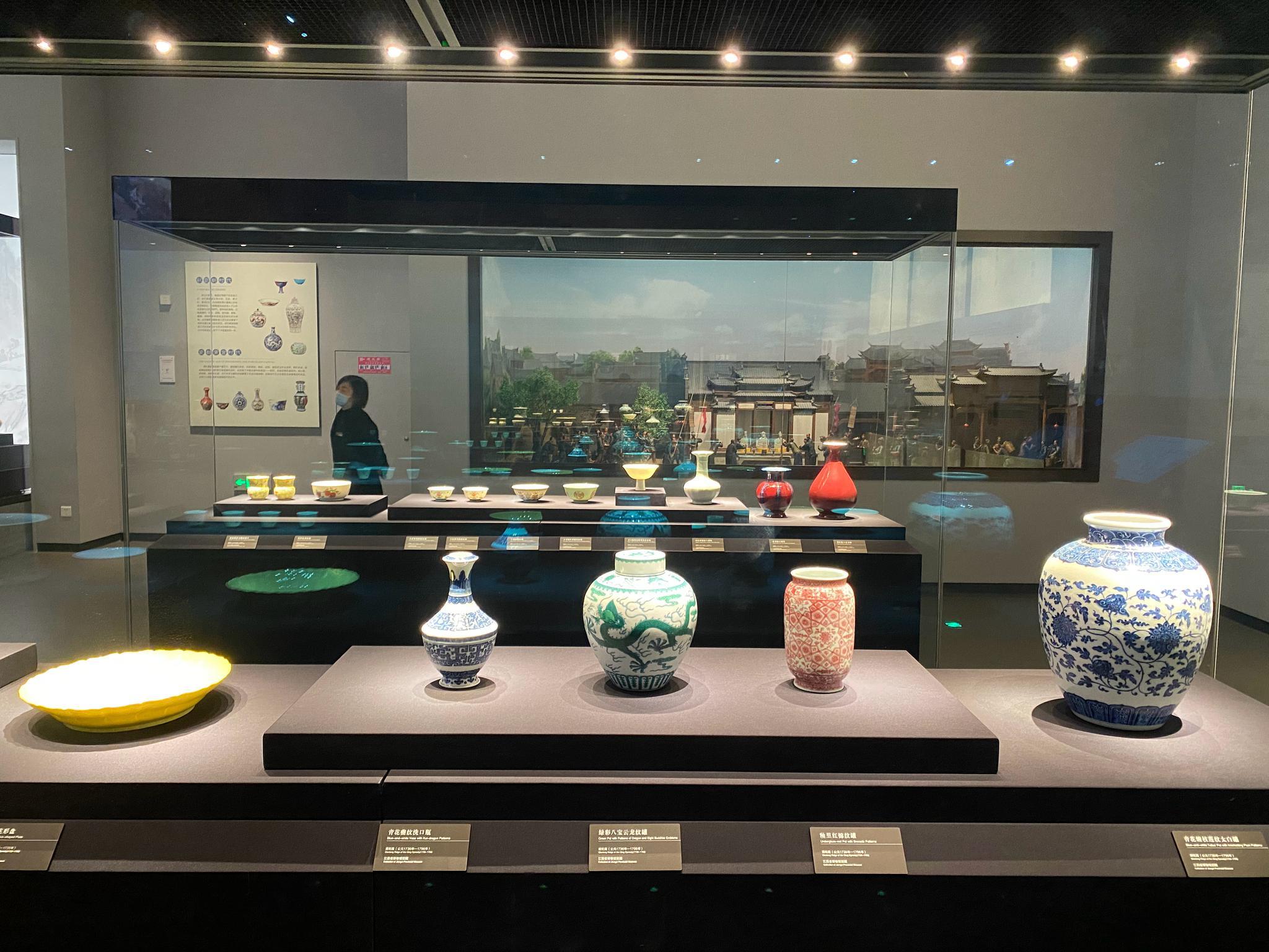 江西省博物馆的瓷器展厅