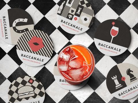 Baccanale 餐饮披萨汉堡店logo设计及品牌vi设计-Ilaria Mauriello