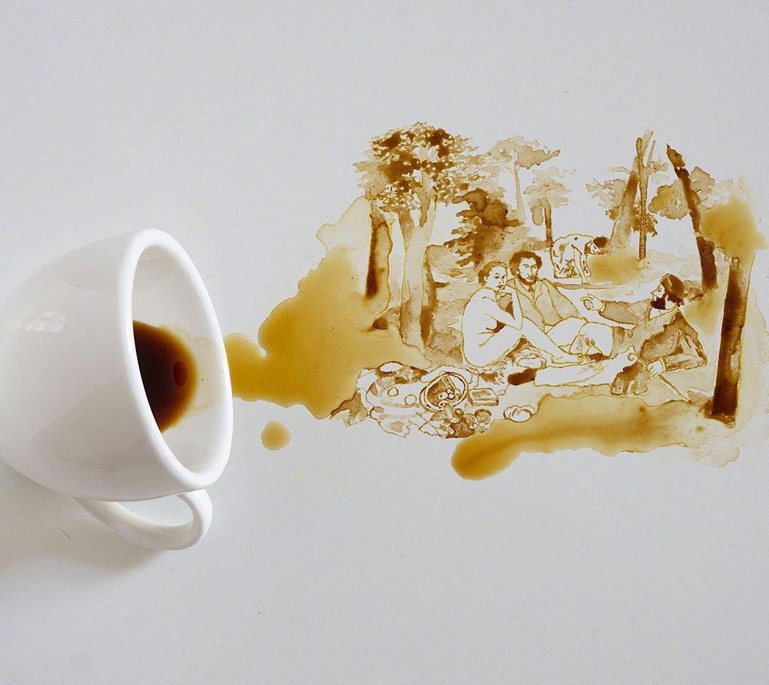 一杯咖啡,一个勺子,最多加一根牙签,居然有这种神操作?