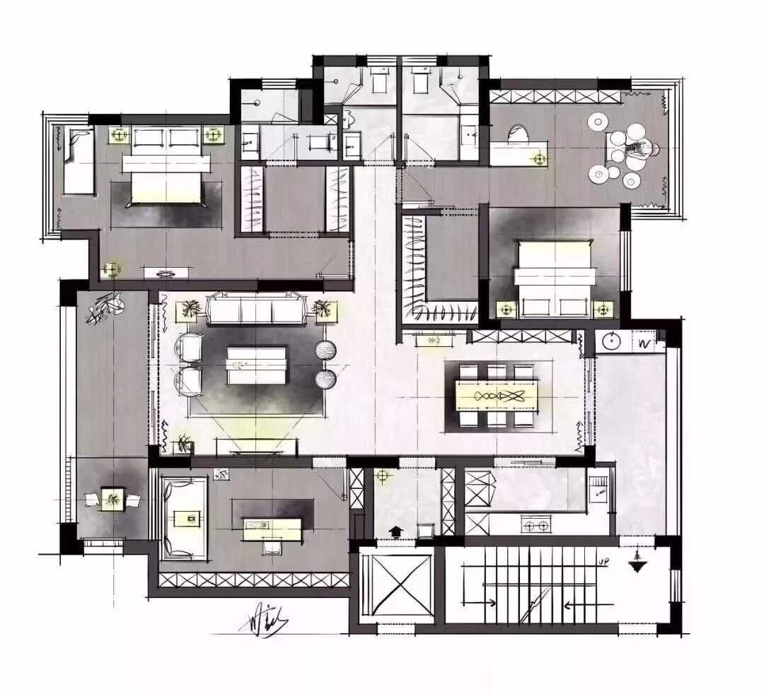 176平新中式装修,全屋简洁素雅、禅意十足,原木家居
