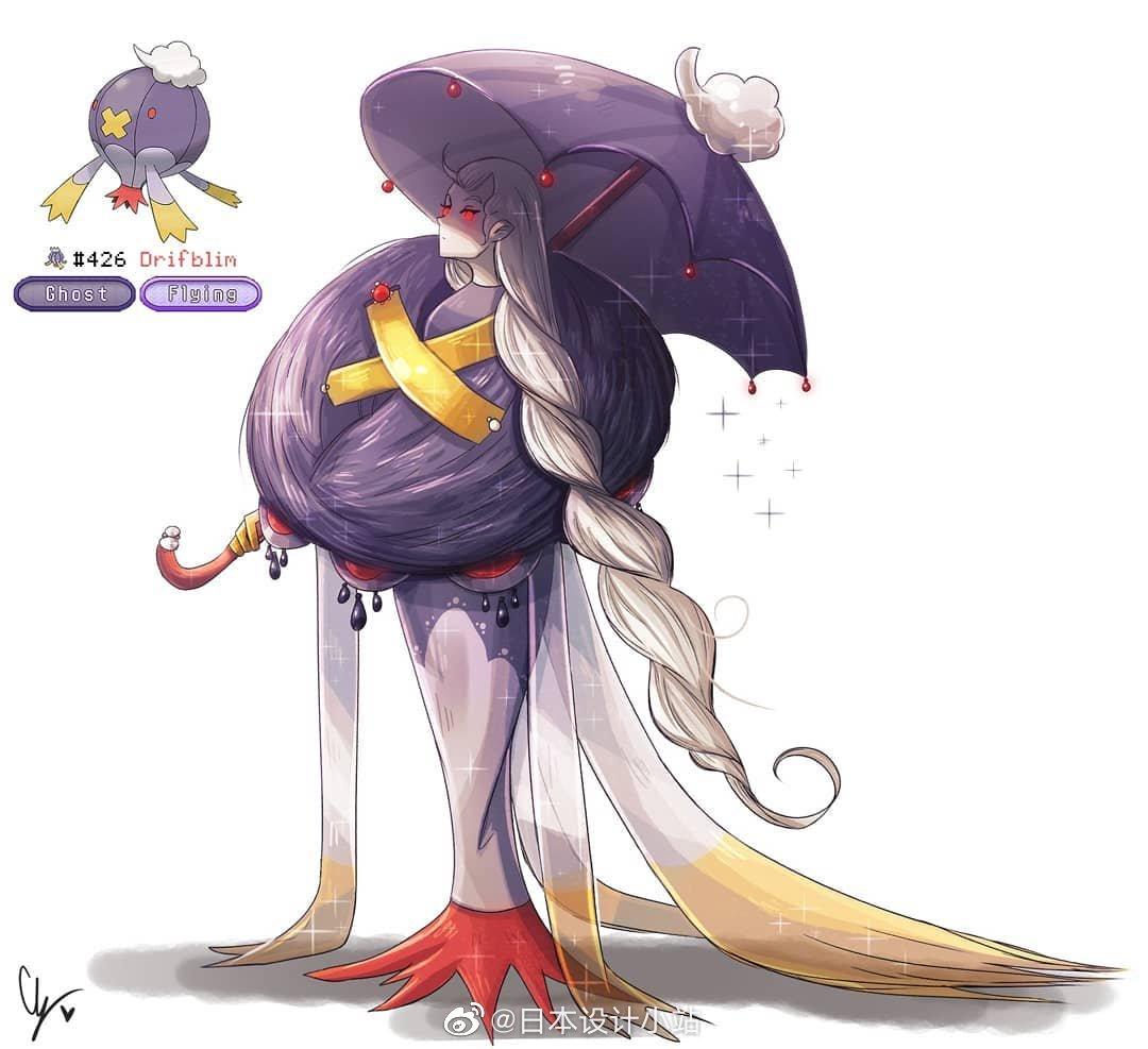 Pokemon角色拟人化(ins:endifi)