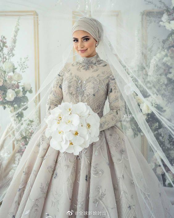 在穆斯林婚礼上你会看到新娘这样穿