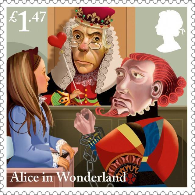 英国皇家邮政与著名插画家Grahame Baker-Smith 爱丽丝梦游仙境主题插