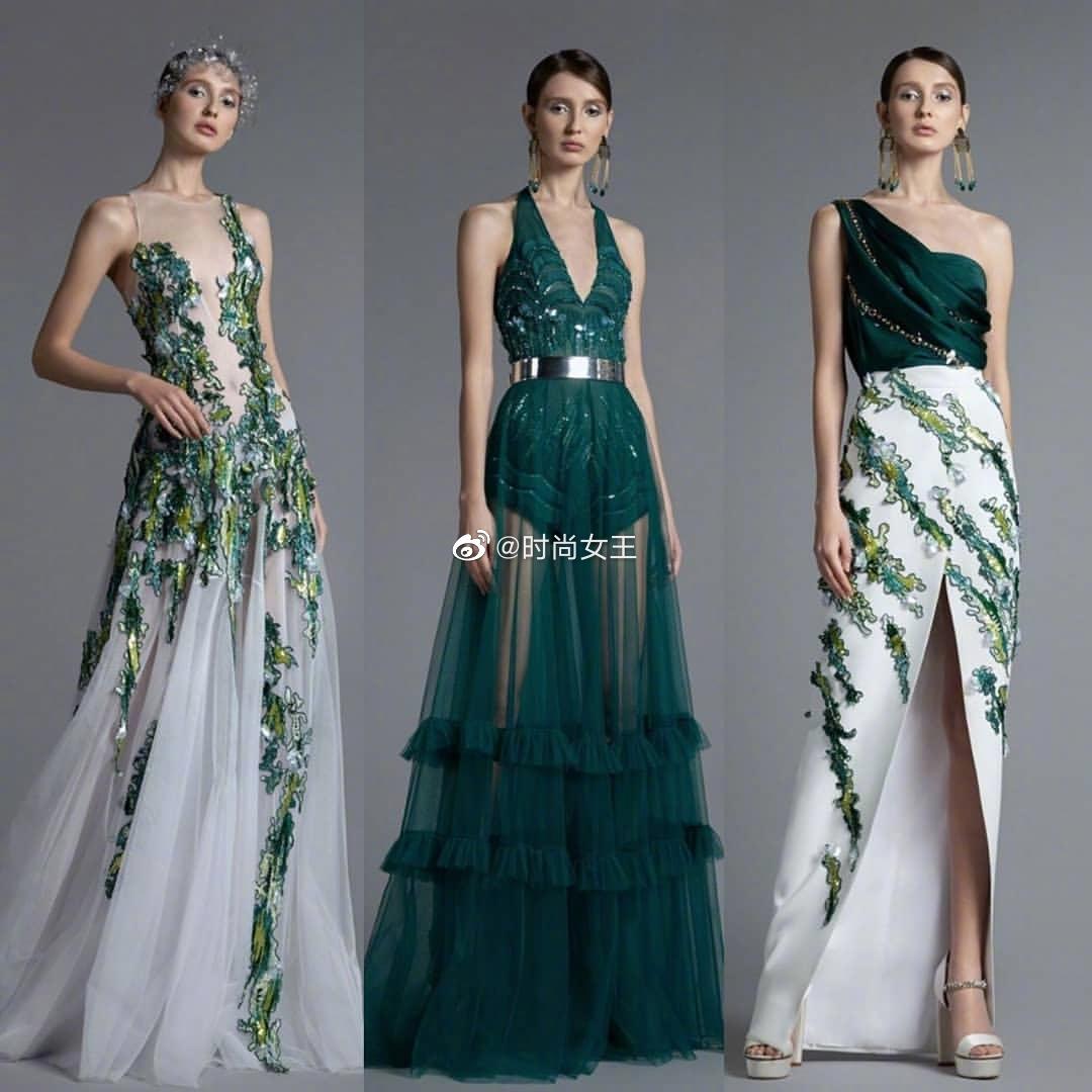 来自黎巴嫩的礼服品牌Basil Soda,以细腻的轮廓、流畅的线条
