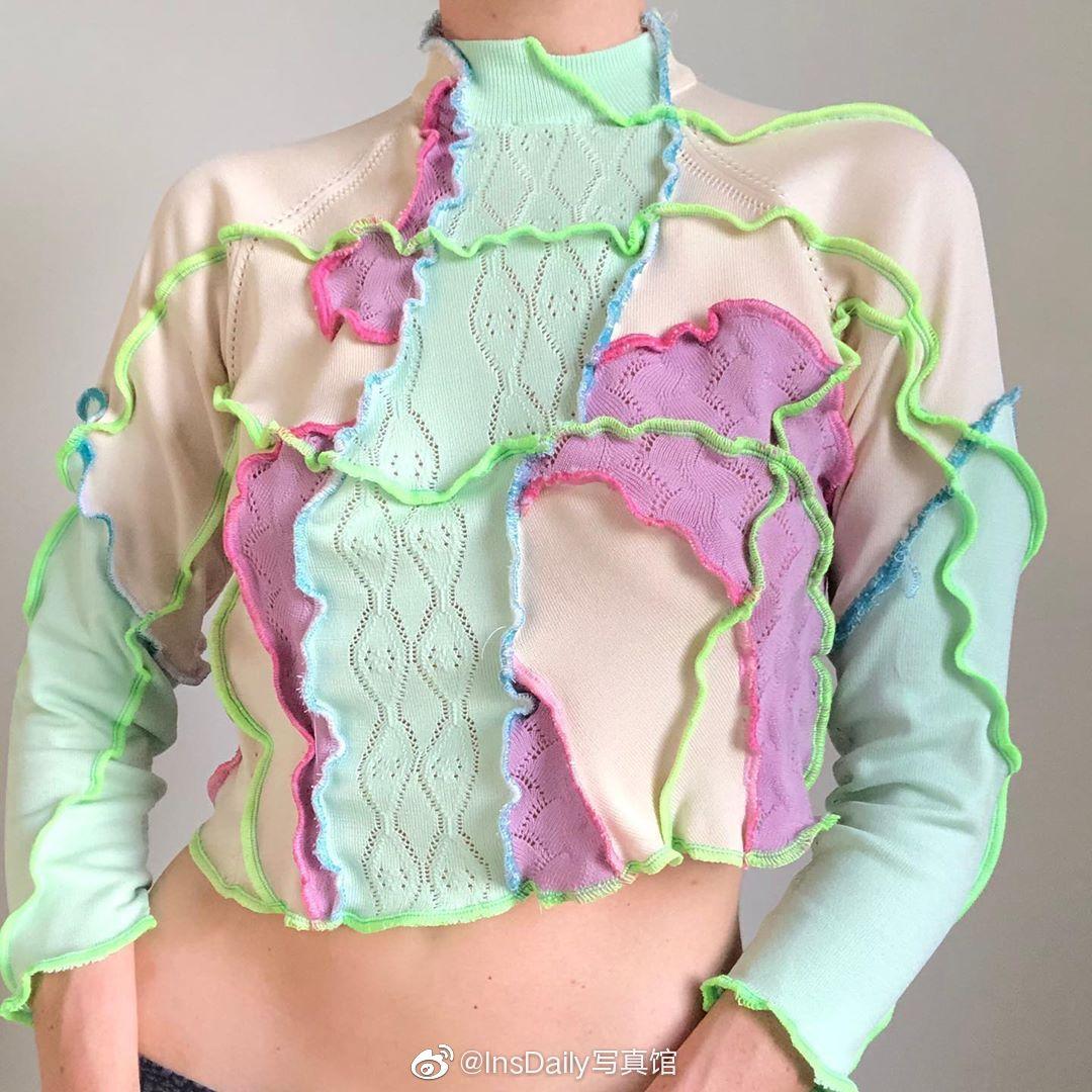 伦敦设计师RUA CARLOTA,用二手衣服设计出的手工拼接单品~