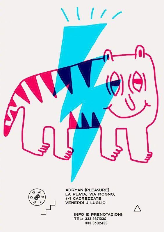 手绘创意图形插画设计,有趣~:Marco Oggian~~~