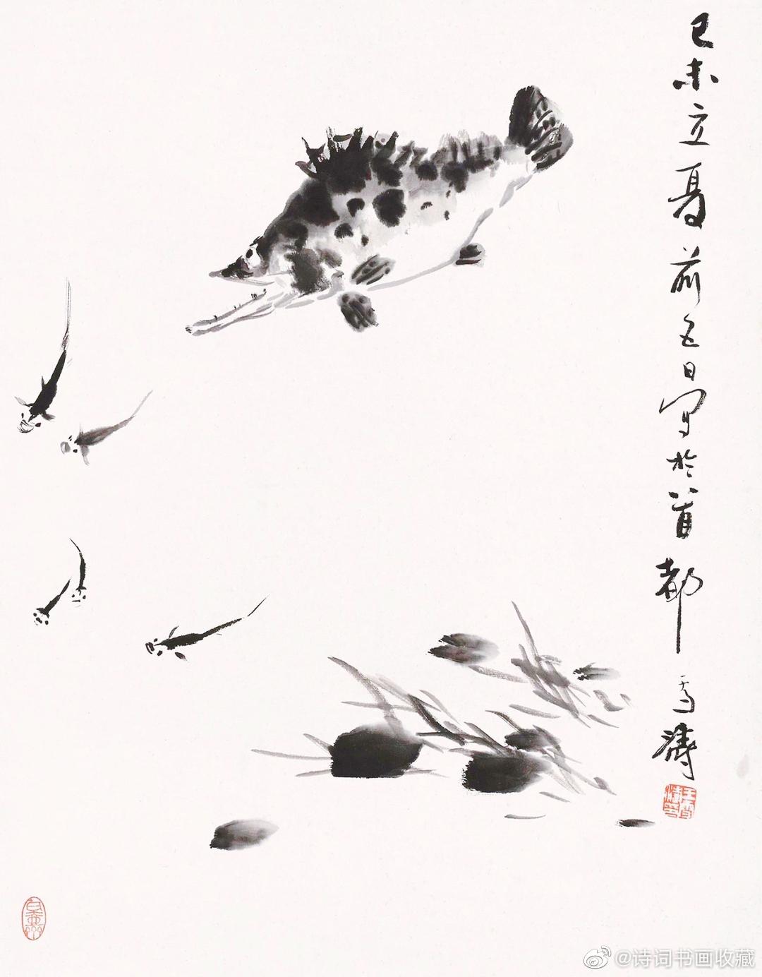王雪涛 墨笔花鸟欣赏