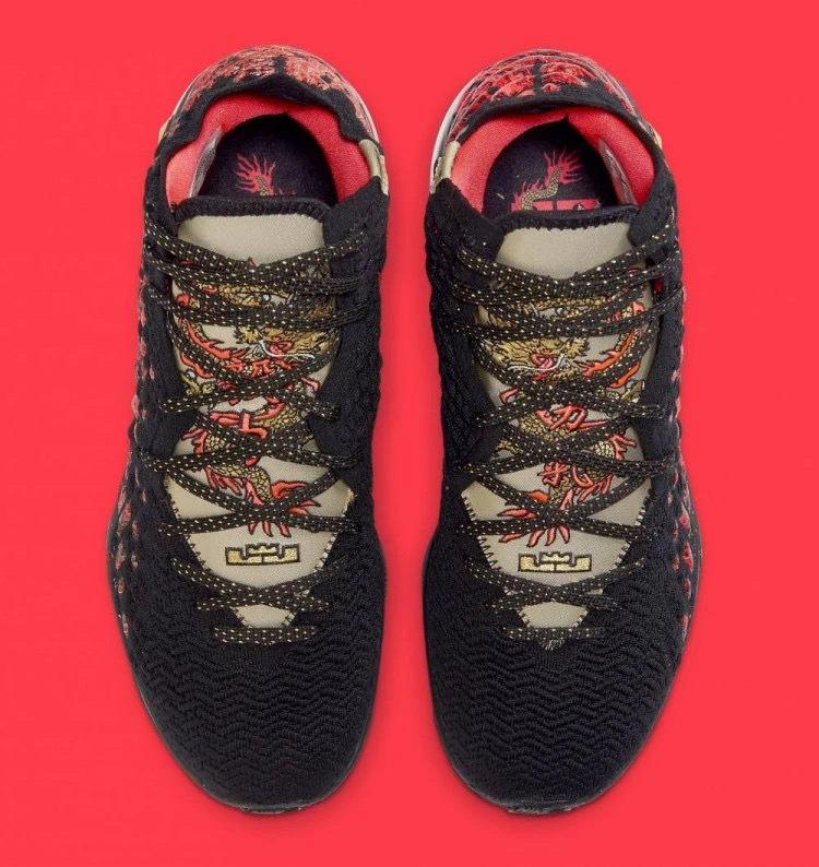 """耐克发布勒布朗17代战靴""""勇气""""款照片,中国元素满满"""