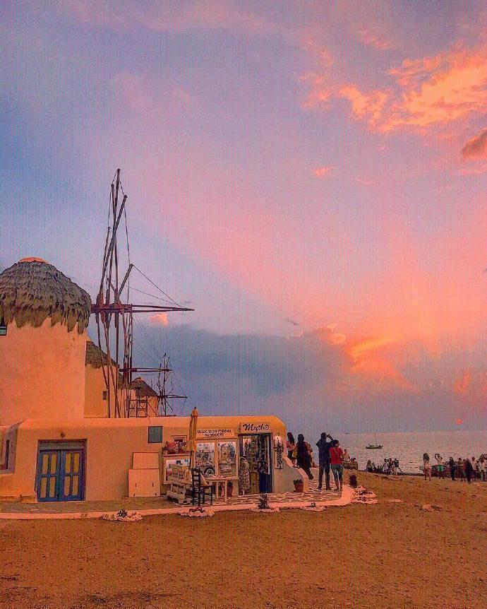 """米克若斯岛,被称为""""爱琴海上白宝石""""的浪漫城市。"""