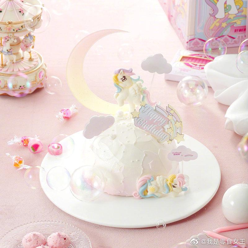 好利来×小马宝莉联名的蛋糕和芝士也太好看了叭,戳中了我的少女心。