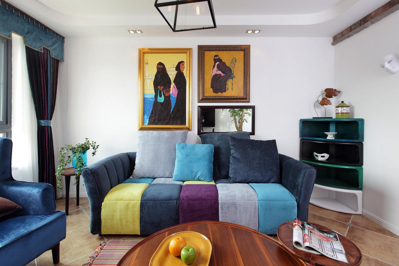 混搭风格二居装修效果图。混搭风格糅合东西方美学精华元素