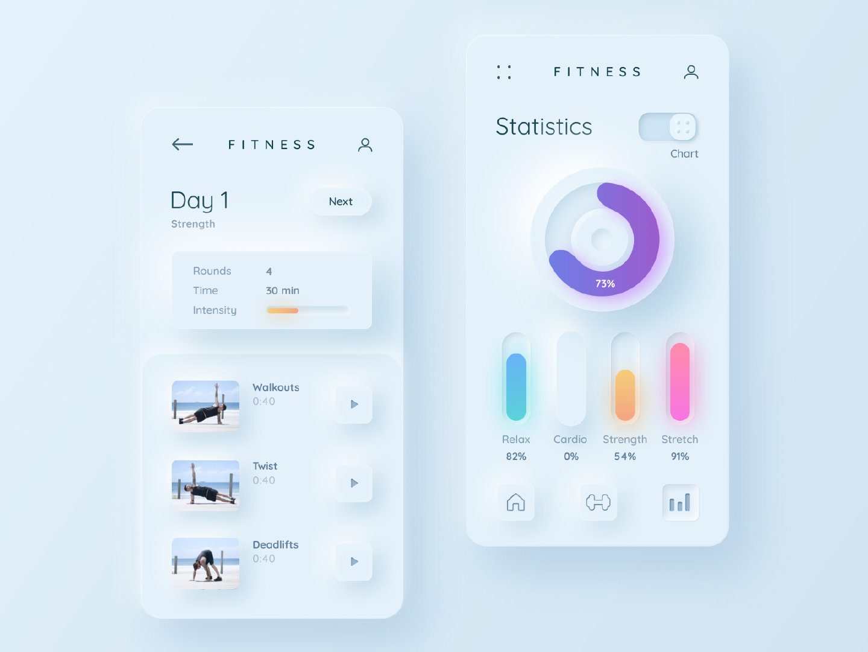 新设计趋势Soft UI写实的质感+卡片式布局