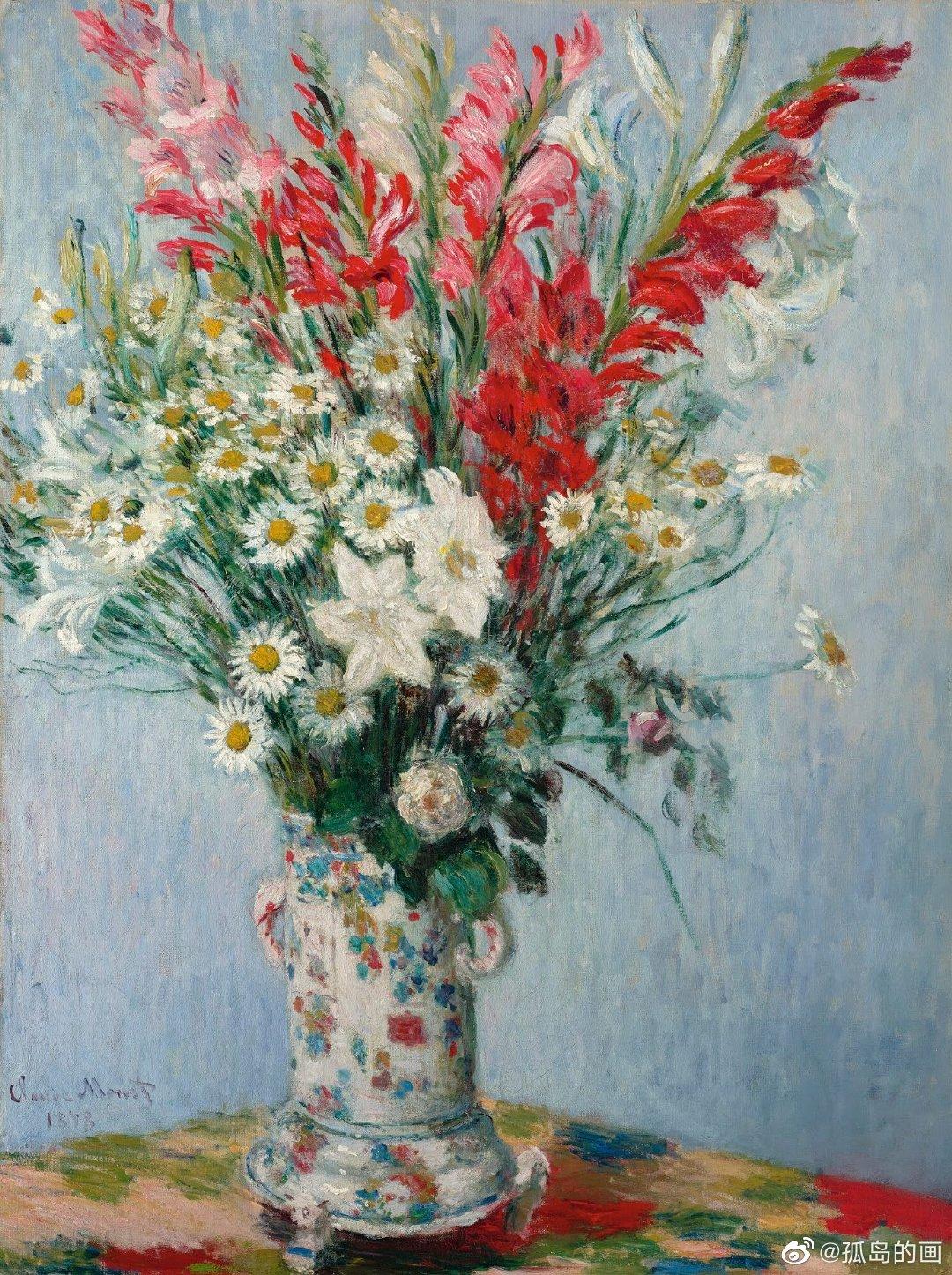 印象派画家的花卉
