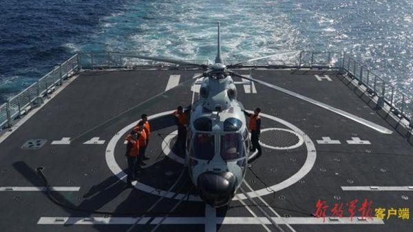 """直击中俄""""海上联合-2021""""军事演习跨昼夜联合反潜演练"""