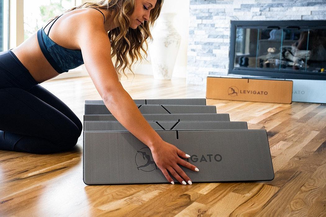 Levigato 可折叠收纳瑜伽垫,有两个不同表面