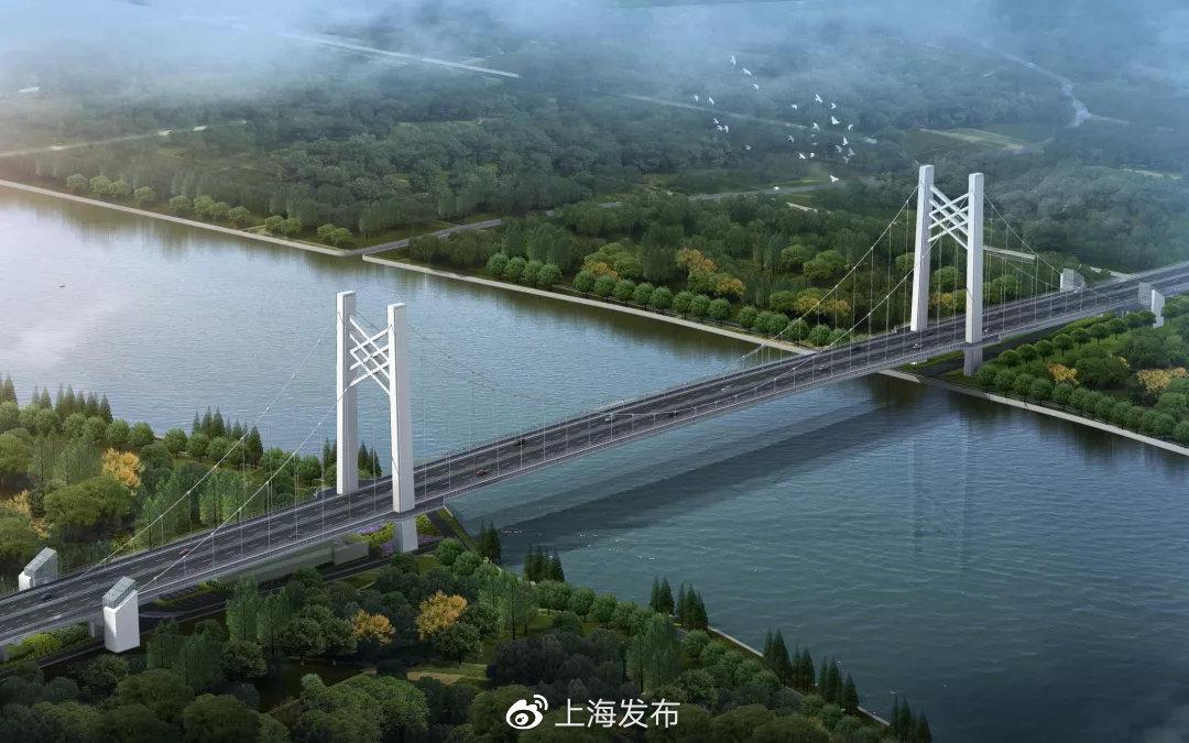 黄浦江上第一座吊桥!宋佳公路跨河大桥