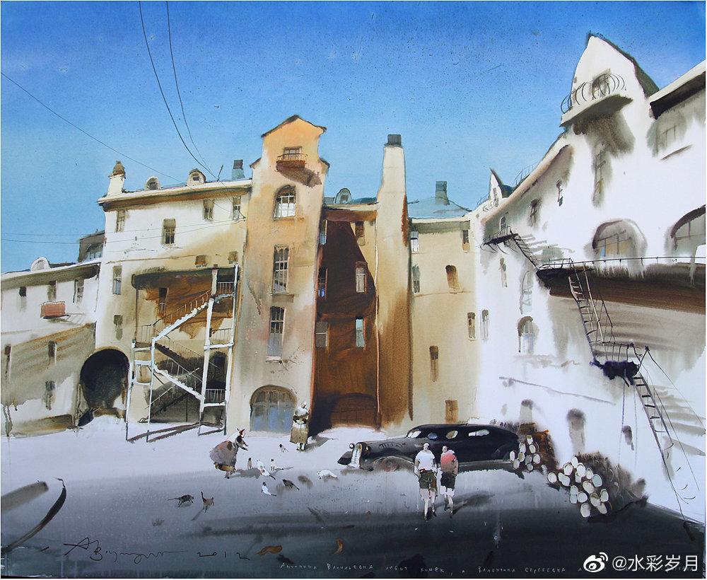 俄罗斯艺术家  ‖  Alexander Votsmush  水彩画作品