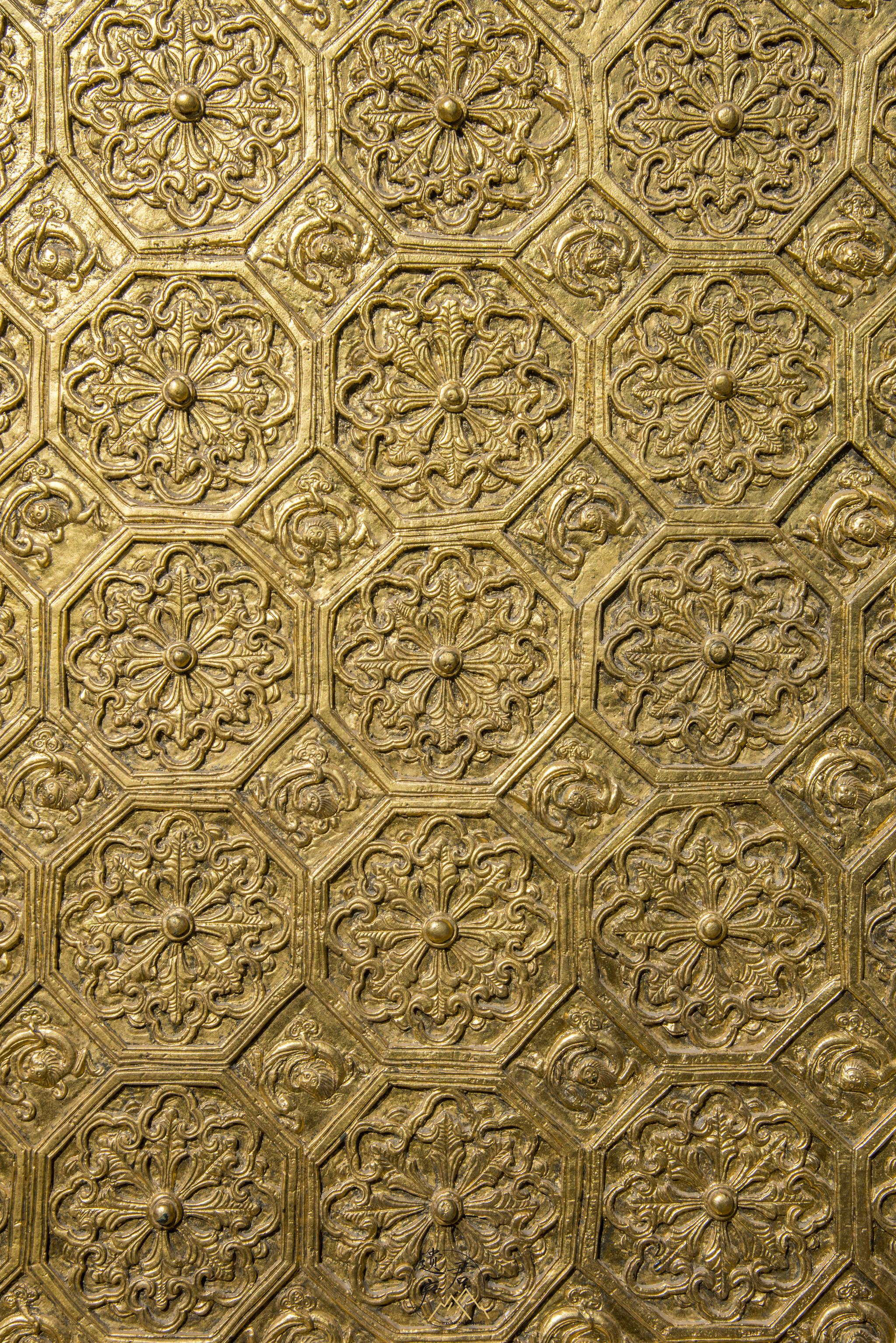 山西五台山明代铜殿的纹饰,又丰富又漂亮