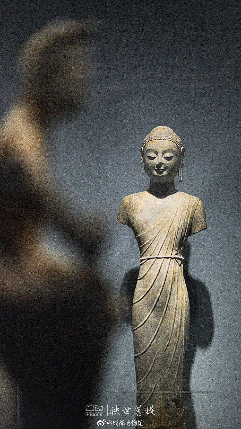 看到不少盆友点赞成都博物馆的《映世菩提》南北朝佛造像大展了