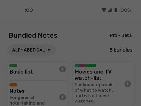 化标签为看板,高颜值 Android 笔记应用新增网页版:Bundled Notes 1.0