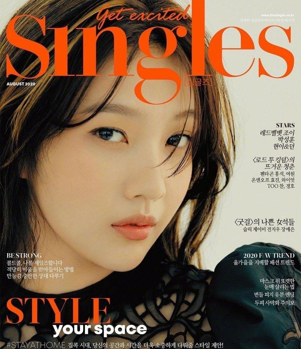 Joy朴秀荣✘《Singles》韩国版2020年八月刊