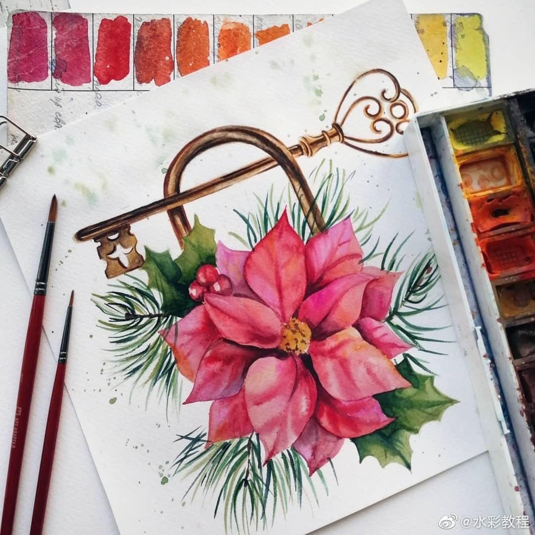 花形锁和钥匙by ins: kat_goncharova_