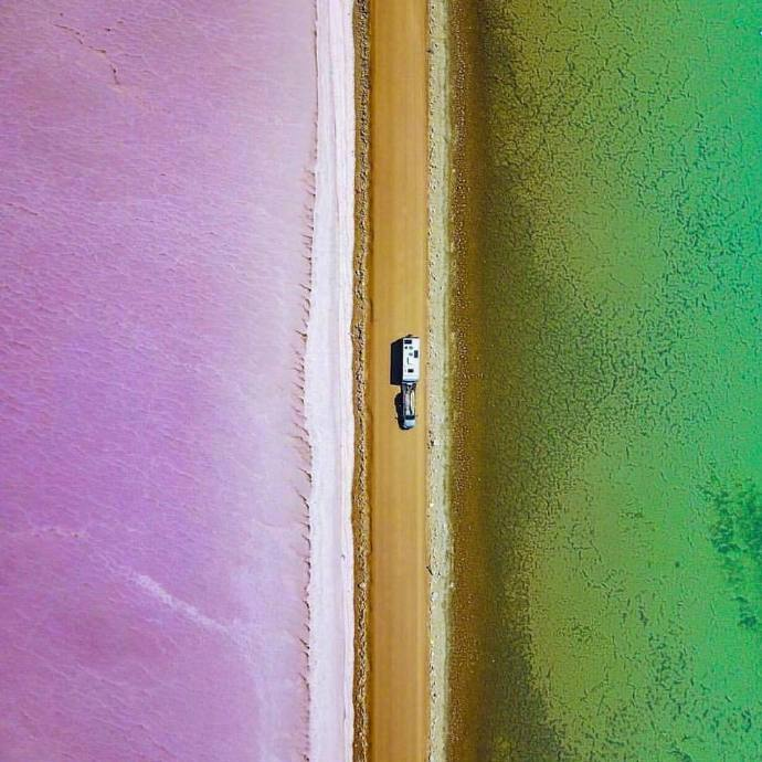 澳大利亚的麦克唐纳湖,大自然的鬼斧神工