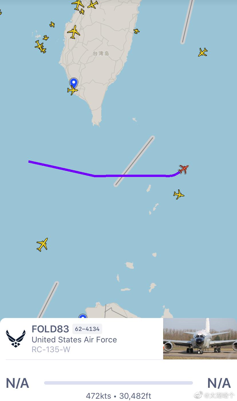 美军RC-135战略侦察机已经结束在南海的抵近侦查行动