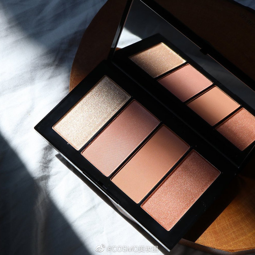 NARS的coolcrush系列彩妆试色分享,四色颊彩盘,整体是暖暖的粉色