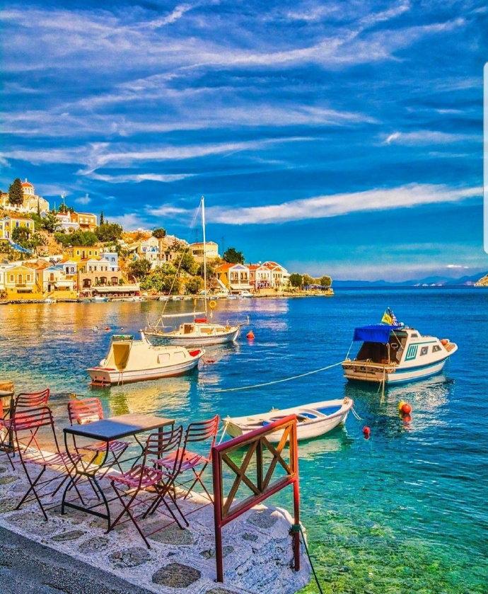 希腊爱琴海的蓝白世界,这辈子说啥得去看看!