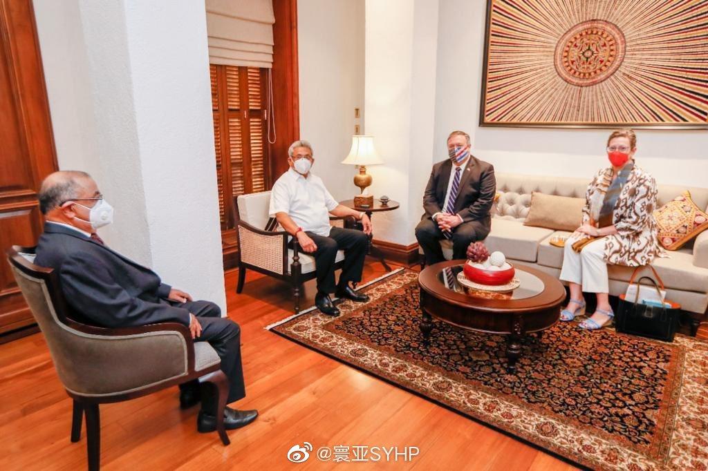 斯里兰卡总统戈塔巴雅会见美国国务卿蓬佩奥重申