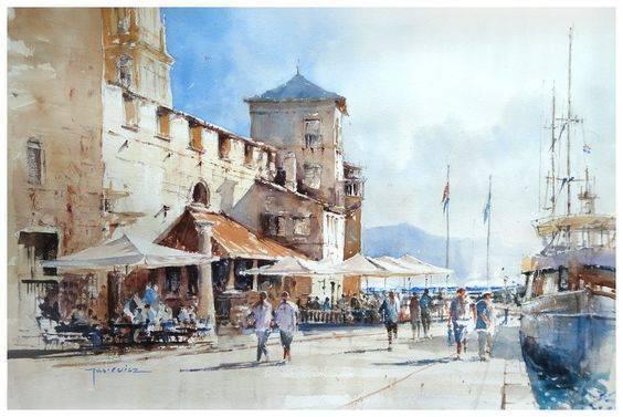 波兰画家Michal Jasiewicz 的水彩