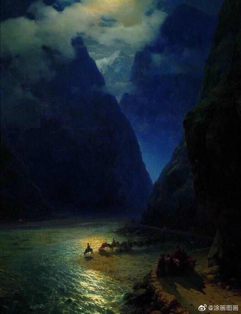 海面夜色 · Ivan Aivazovsky油画