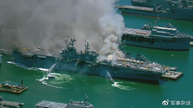 美海军LHD-6两栖登陆舰突发大火,或将报废