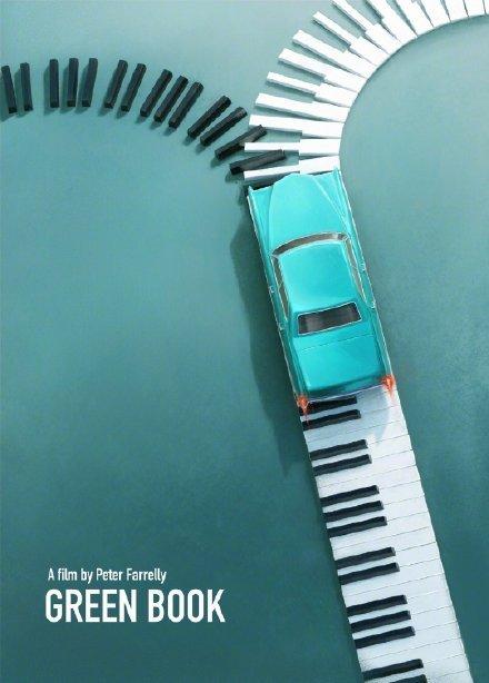 波兰艺术家Karol Rogoz设计的《绿皮书》电影海报惊艳了世人