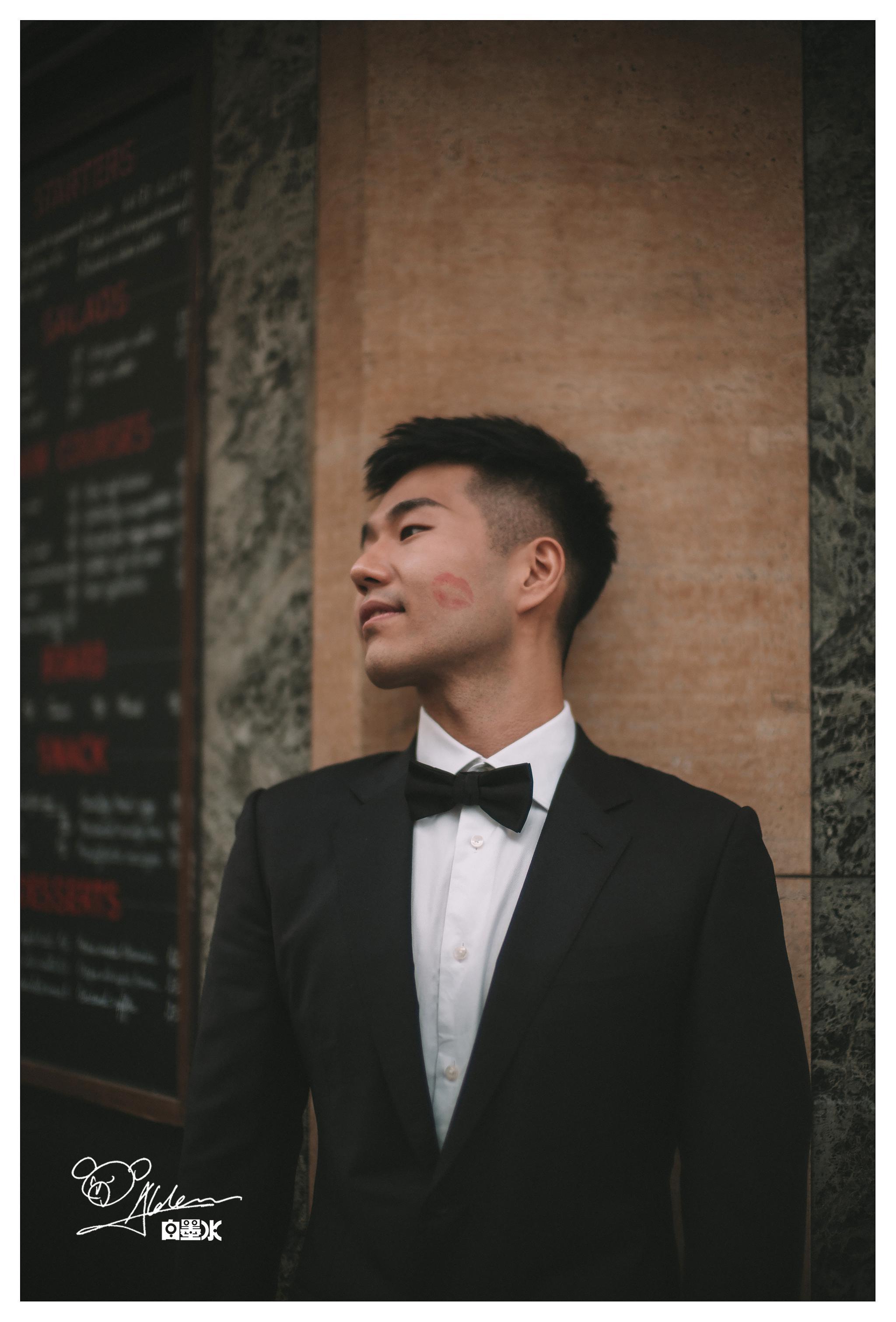 又是一对可爱的新人,新郎有个角度好像赵又廷啊哈哈。 @微博婚礼