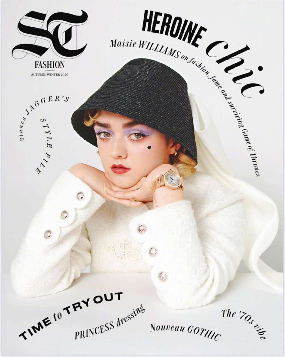 二丫Maisie Williams 俏丽出镜 为 Telegraph Luxury  2020年 9月号拍
