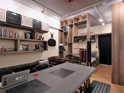 30平精美小公寓,一室三用功能叠加,简约时尚又实用,太完美了!