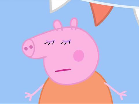 小猪佩奇:佩奇喜欢学校游园会,可以和大家玩得很开心!