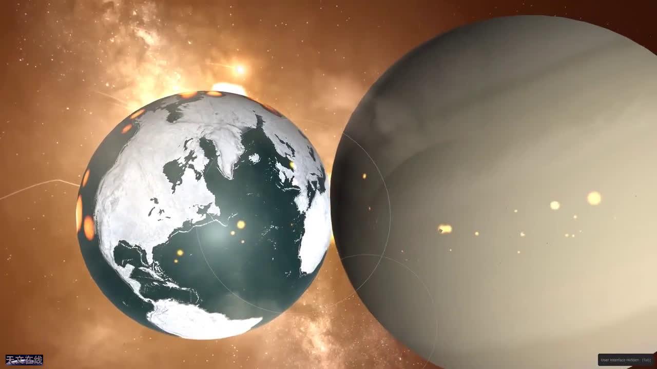 一起来比比!这是类地行星与气态巨行星的比较,谁更大?