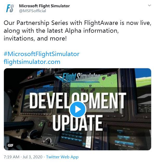 《微软模拟飞行》中还能遇到现实中的航班