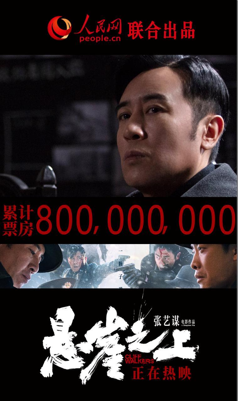 电影《悬崖之上》票房破8亿